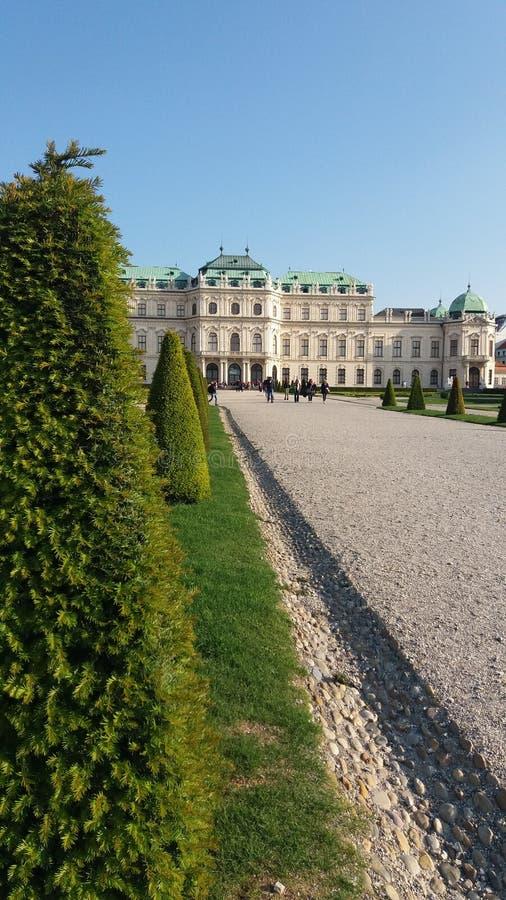 Παλάτι πανοραμικών πυργίσκων στη Βιέννη στοκ εικόνες