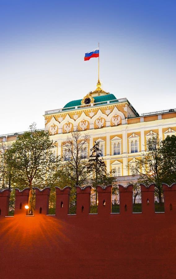 Παλάτι Προέδρου στο Κρεμλίνο, Μόσχα στο ηλιοβασίλεμα στοκ φωτογραφία με δικαίωμα ελεύθερης χρήσης