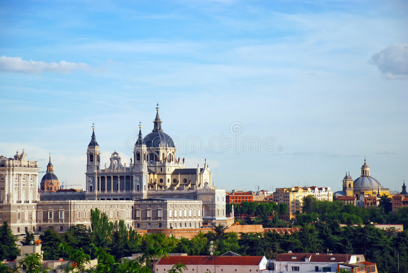 παλάτι της Μαδρίτης πραγμα&t στοκ φωτογραφία