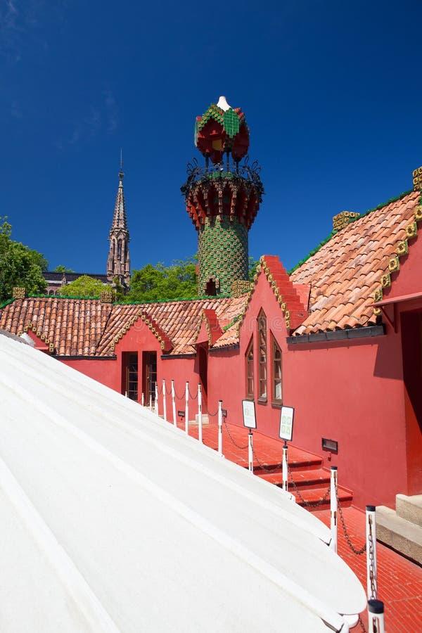 Παλάτι της EL Capricho από τον αρχιτέκτονα Gaudi, Comillas, Ισπανία στοκ φωτογραφία με δικαίωμα ελεύθερης χρήσης