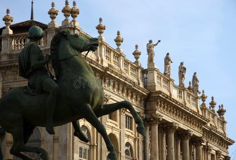 παλάτι Τορίνο madama στοκ εικόνες με δικαίωμα ελεύθερης χρήσης