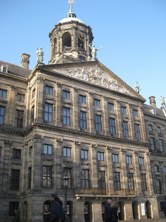 παλάτι του Άμστερνταμ βασιλικό στοκ εικόνες με δικαίωμα ελεύθερης χρήσης