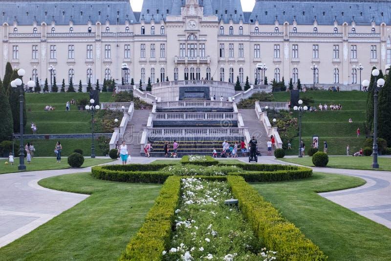 Παλάτι του πολιτισμού από Iasi Ρουμανία στοκ εικόνα
