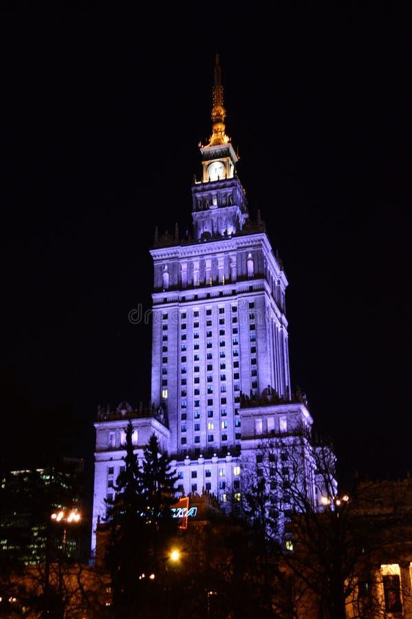 Παλάτι του πολιτισμού και της επιστήμης Βαρσοβία στοκ φωτογραφίες