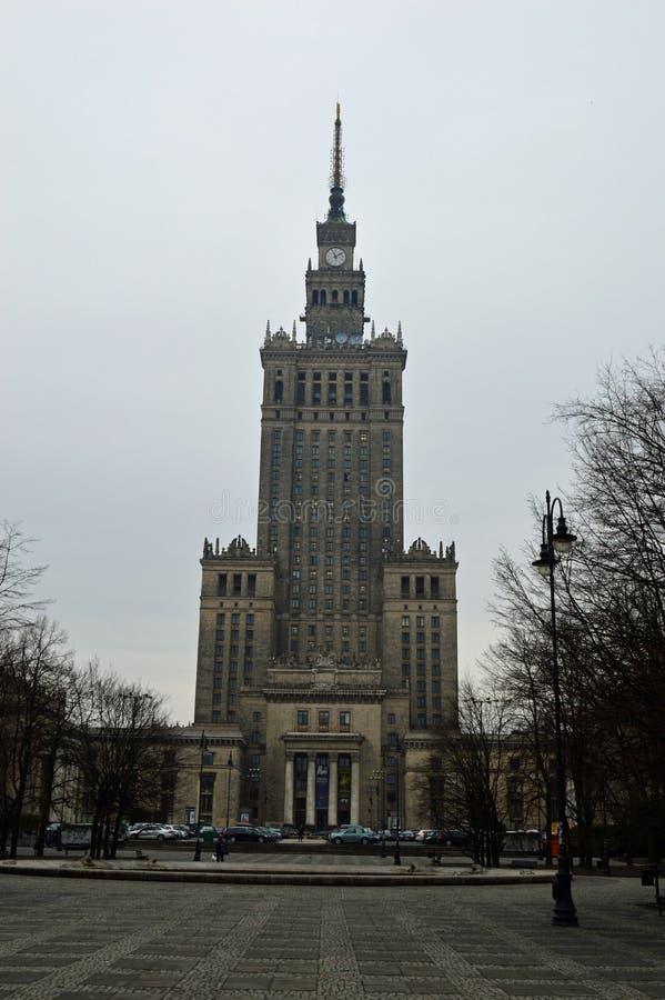 Παλάτι του πολιτισμού και της επιστήμης Βαρσοβία στοκ εικόνες με δικαίωμα ελεύθερης χρήσης