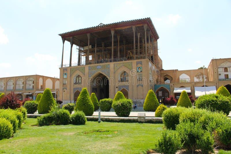 Παλάτι του Ali Qapu στο τετράγωνο naqsh-ε Jahan, Ισφαχάν, Ιράν στοκ φωτογραφίες