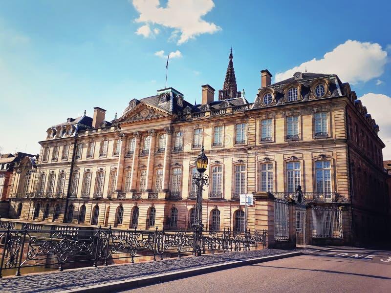 Παλάτι του Rohan και αρχαιολογικό μουσείο πόλεων του Στρασβούργου, διακοσμητικές τέχνες και Καλές Τέχνες, Γαλλία στοκ εικόνες