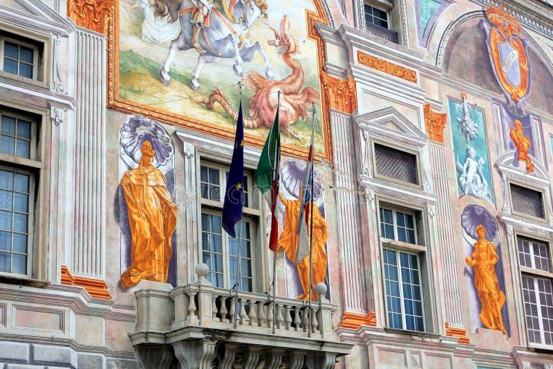 Παλάτι του ST George στη Γένοβα, Ιταλία στοκ φωτογραφία με δικαίωμα ελεύθερης χρήσης