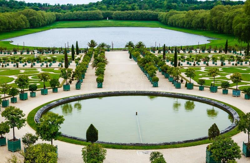 Παλάτι των Βερσαλλιών, βασιλικός θερμοκήπιο πορτοκαλιών Παρίσι στοκ εικόνες