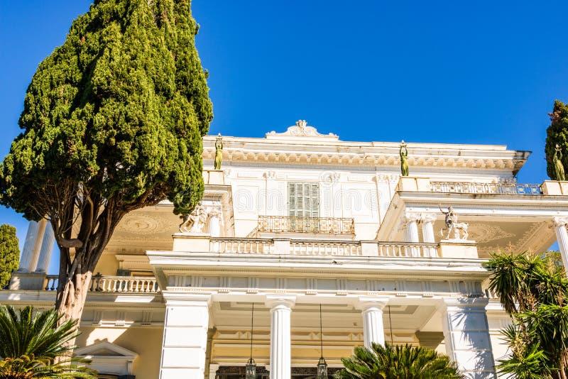 Παλάτι Achilleion στο νησί της Κέρκυρας, Ελλάδα στοκ φωτογραφία