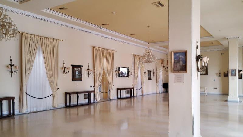 Παλάτι Achilleion της αυτοκράτειρας της Αυστρίας Elisabeth της Βαυαρίας στο νησί της Κέρκυρας, Ελλάδα στοκ εικόνες