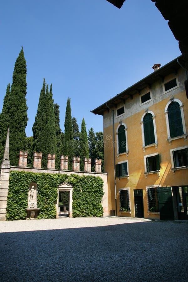 παλάτι giusti giardino στοκ εικόνα