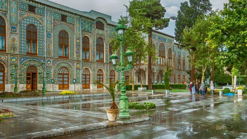 Παλάτι Golestan μια βροχερή ημέρα στοκ εικόνα με δικαίωμα ελεύθερης χρήσης