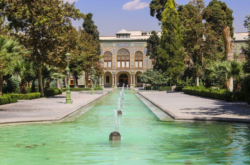 Παλάτι Golestan, μια περιοχή κληρονομιάς της ΟΥΝΕΣΚΟ στην Τεχεράνη, Ιράν στοκ φωτογραφία