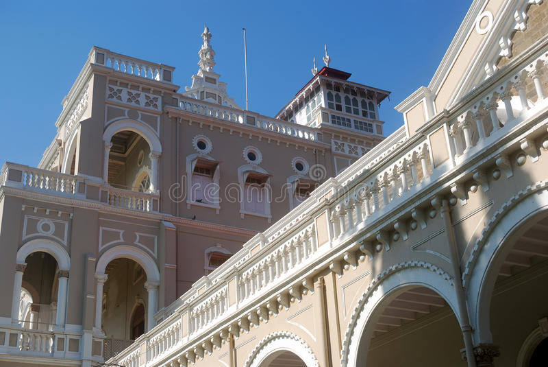 Παλάτι Khan Aga, Pune, Maharashtra, Ινδία στοκ εικόνες