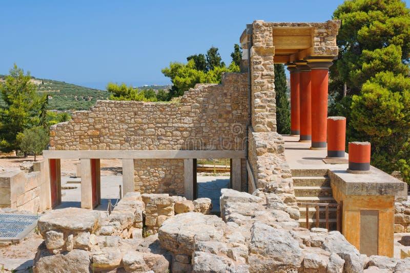 Παλάτι Knossos. Κρήτη, Ελλάδα στοκ φωτογραφία