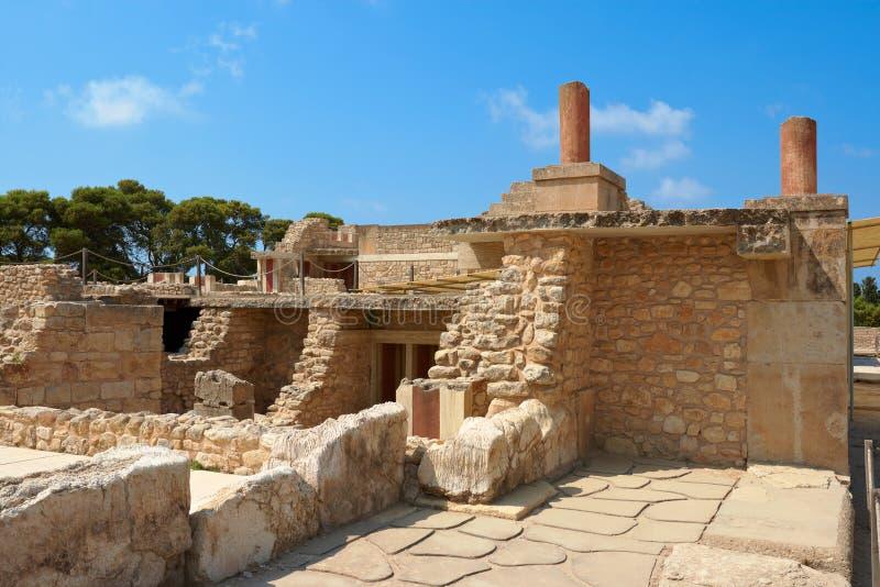 παλάτι knossos της Κρήτης Ελλάδ&alpha στοκ φωτογραφίες