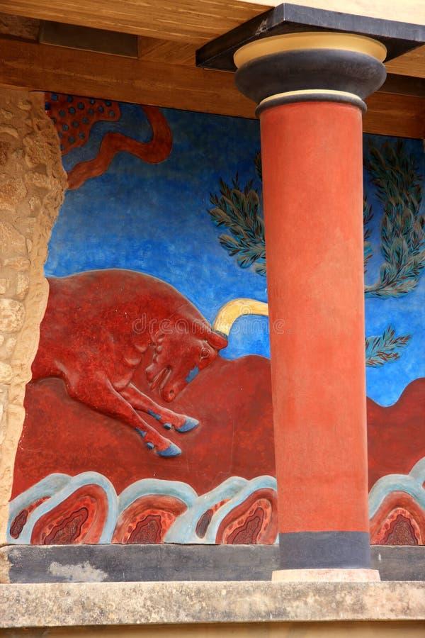 παλάτι knossos της Κρήτης Ελλάδ&alpha στοκ φωτογραφία