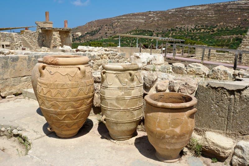 παλάτι knossos της Κρήτης στοκ εικόνες