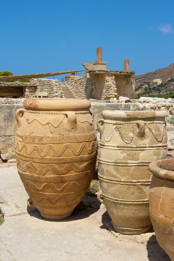 παλάτι knossos της Κρήτης στοκ φωτογραφίες με δικαίωμα ελεύθερης χρήσης