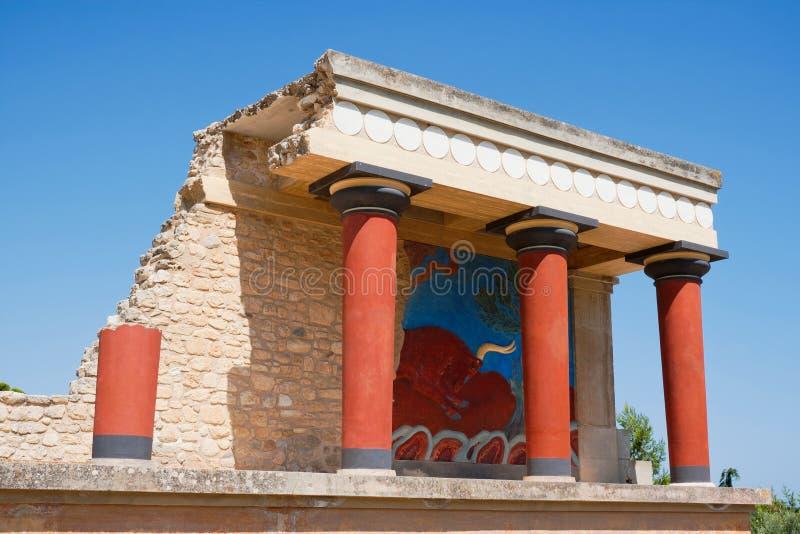παλάτι knossos της Κρήτης στοκ εικόνα με δικαίωμα ελεύθερης χρήσης