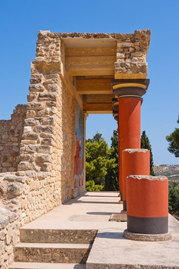 παλάτι knossos της Κρήτης στοκ φωτογραφία με δικαίωμα ελεύθερης χρήσης