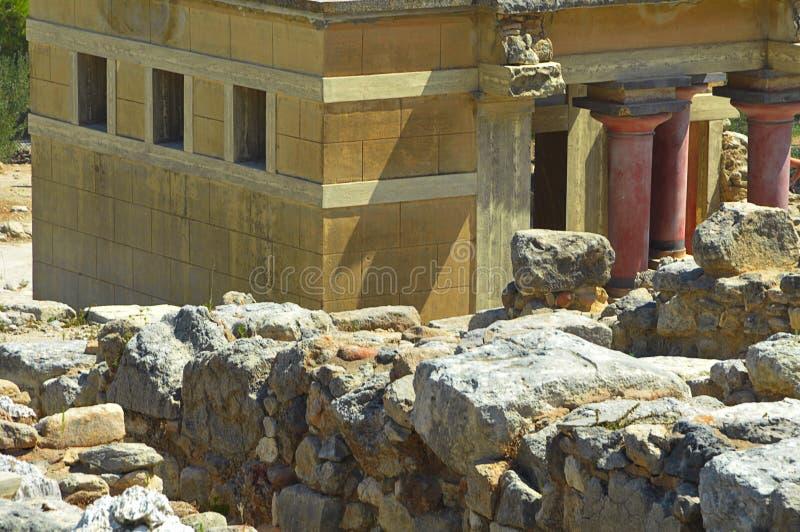 παλάτι knossos στοκ φωτογραφία