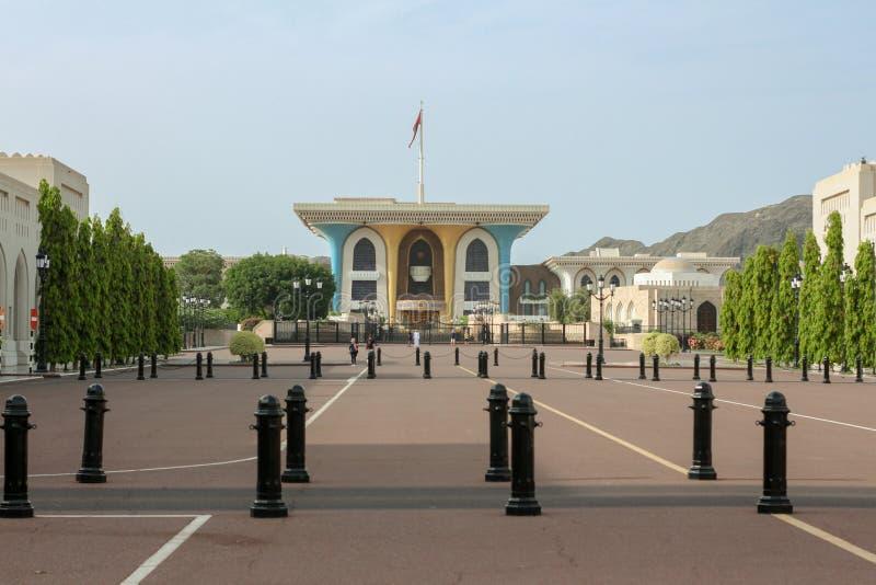 Παλάτι Qaboos σουλτάνων Muscat, Ομάν mattrah πλησίον - παλάτι Al Alam στοκ φωτογραφία με δικαίωμα ελεύθερης χρήσης