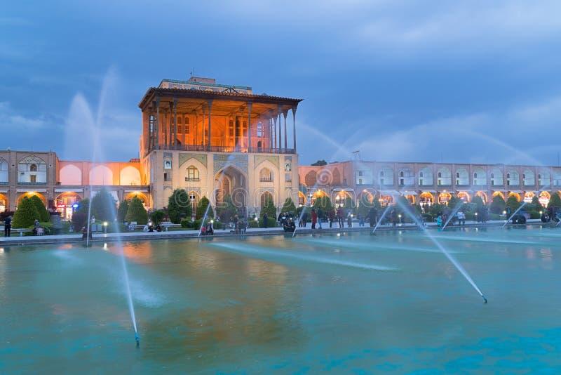 Παλάτι Qapu Aali στο Ισπαχάν, Ιράν στοκ εικόνες