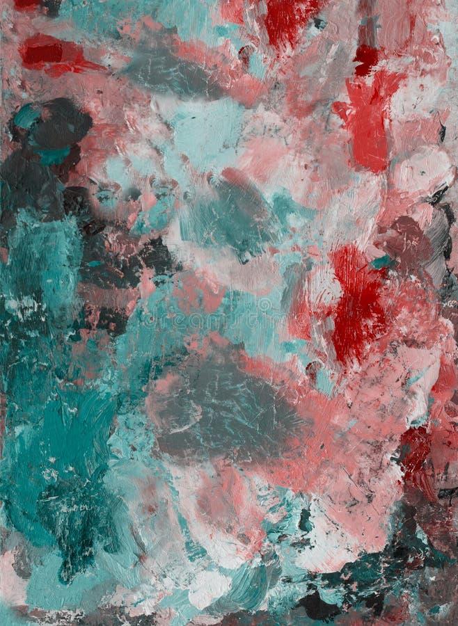 Παλέτα με τα χρώματα Αφηρημένο σχέδιο στην παλέτα - ελαιοχρώματα Διακοσμητική σύνθεση στοκ φωτογραφία με δικαίωμα ελεύθερης χρήσης