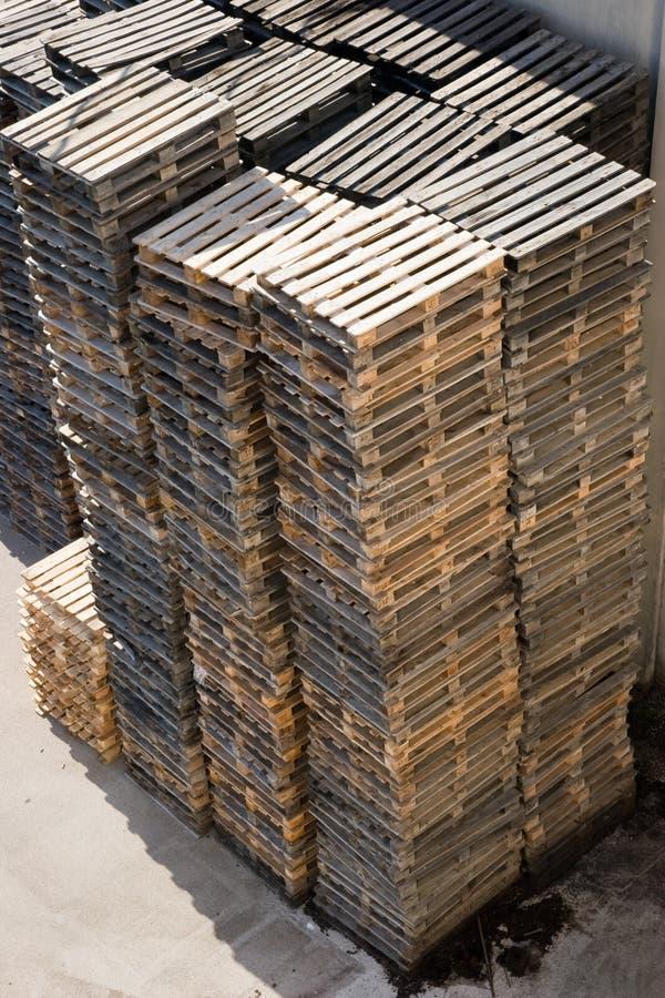 παλέτα ξύλινη στοκ φωτογραφία