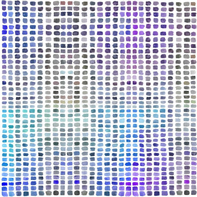 Παλέτα Watercolor με τα χρωματισμένα ορθογώνια ελεύθερη απεικόνιση δικαιώματος