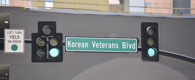 Παλαίμαχοι Blvd στο κέντρο της πόλης Νάσβιλ Πολέμων της Κορέας στοκ εικόνες με δικαίωμα ελεύθερης χρήσης