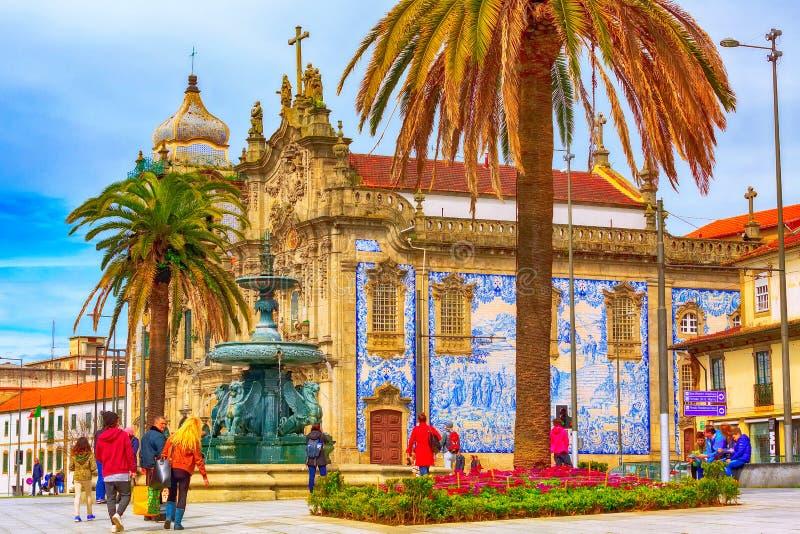 Παλαιά άποψη πόλης οδών του Πόρτο, Πορτογαλία στοκ εικόνα με δικαίωμα ελεύθερης χρήσης