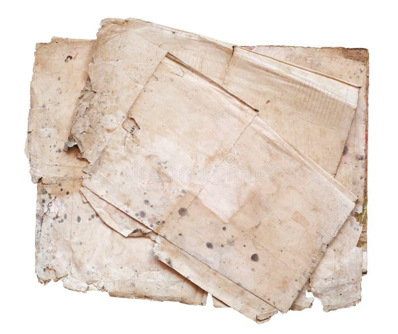 Παλαιά έγγραφα για ένα άσπρο υπόβαθρο στοκ εικόνες με δικαίωμα ελεύθερης χρήσης