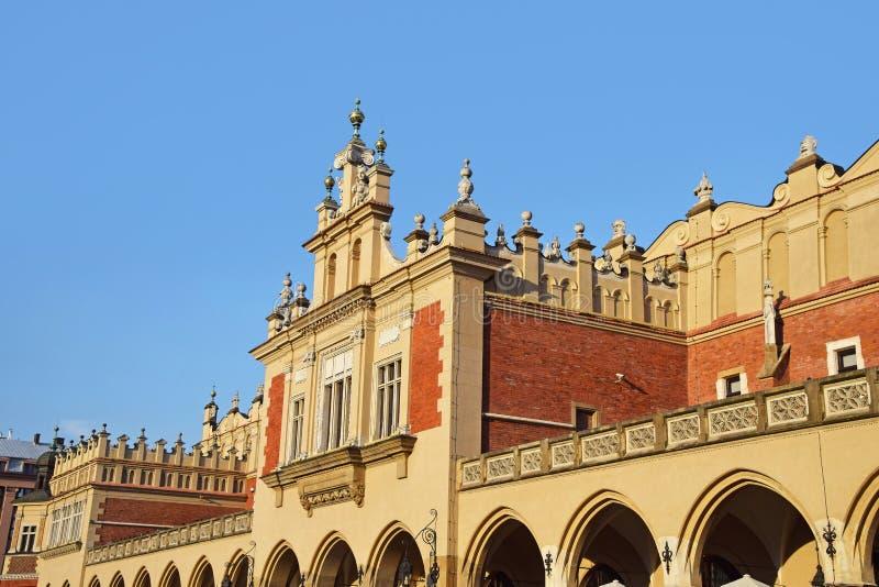 Παλαιά αίθουσα Sukiennice πόλης υφασμάτων στην Κρακοβία, Πολωνία στοκ φωτογραφίες με δικαίωμα ελεύθερης χρήσης