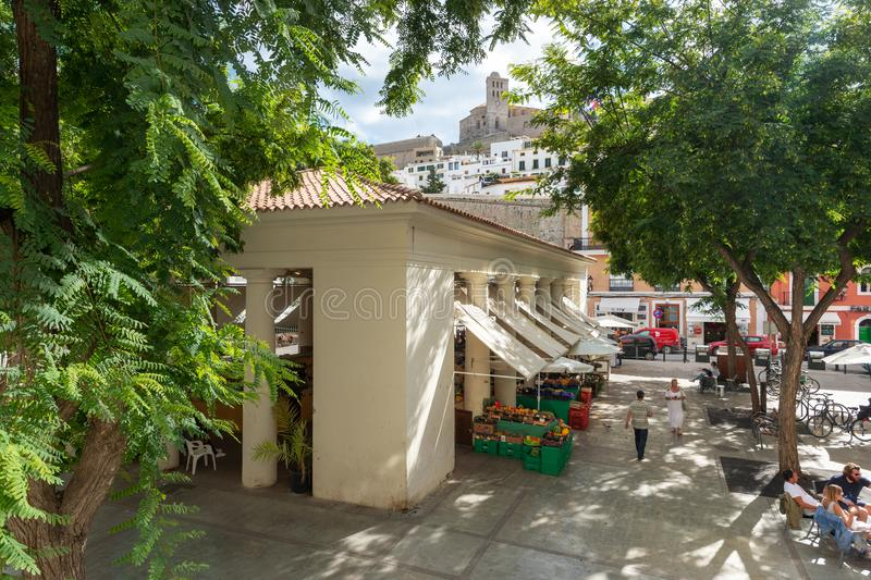 Παλαιά αγορά Ibiza στοκ εικόνα