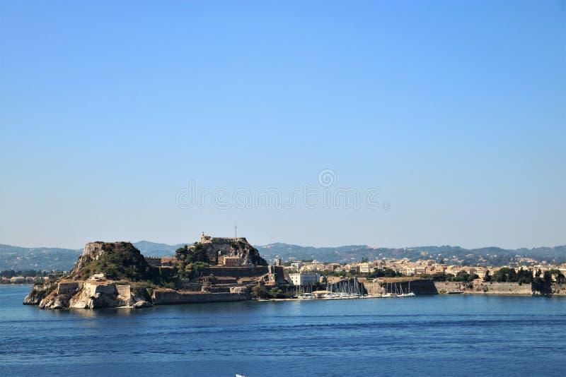 Παλαιά ακρόπολη στην πόλη Ελλάδα της Κέρκυρας στοκ εικόνες με δικαίωμα ελεύθερης χρήσης