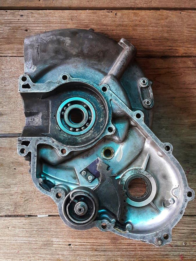 Παλαιά αναδρομική κλασική μοτοσικλέτα μηχανών δίχρονη μοτοσικλέτα μηχανών στοκ φωτογραφίες με δικαίωμα ελεύθερης χρήσης