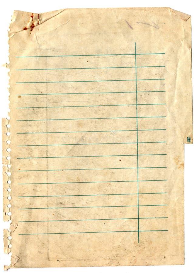 Παλαιά ανασκόπηση εγγράφου σημειώσεων στοκ εικόνες με δικαίωμα ελεύθερης χρήσης