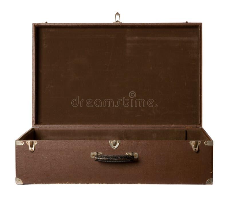 παλαιά ανοικτή βαλίτσα στοκ φωτογραφία με δικαίωμα ελεύθερης χρήσης