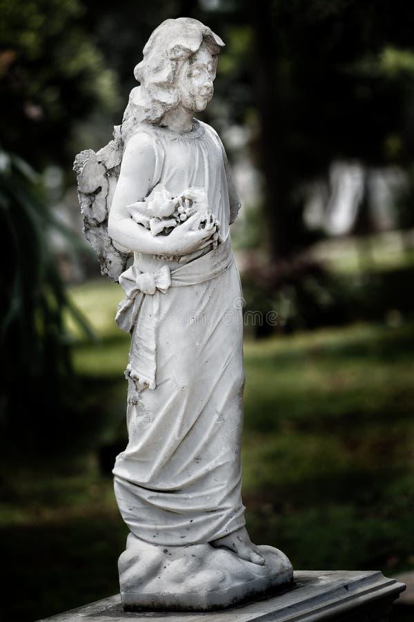 Παλαιά αρχαία ιστορία νεκροταφείων αγαλμάτων στοκ φωτογραφίες με δικαίωμα ελεύθερης χρήσης