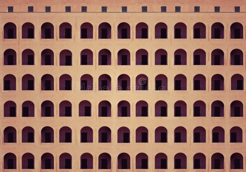 Παλαιά αρχιτεκτονική προσόψεων οικοδόμησης ύφους στοκ φωτογραφία με δικαίωμα ελεύθερης χρήσης