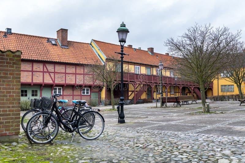 Παλαιά αρχιτεκτονική σε Ystad στη Σουηδία στοκ φωτογραφία