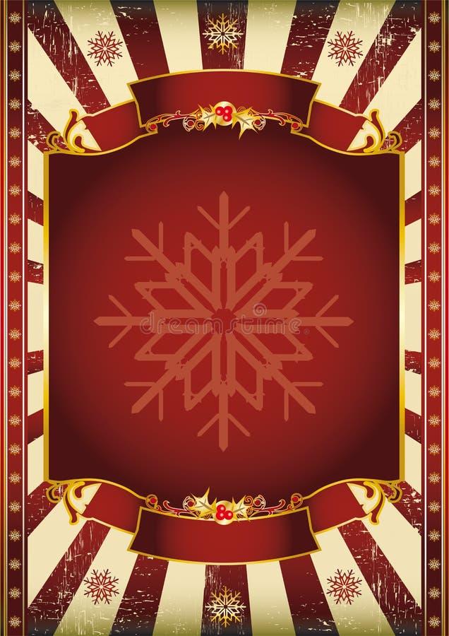 παλαιά αφίσα Χριστουγένν&omega ελεύθερη απεικόνιση δικαιώματος
