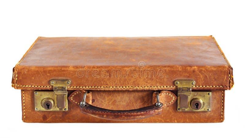 παλαιά βαλίτσα δέρματος στοκ εικόνες με δικαίωμα ελεύθερης χρήσης