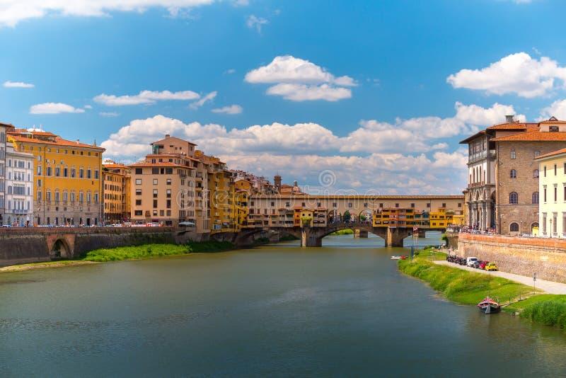 Παλαιά γέφυρα της Φλωρεντίας στοκ εικόνες