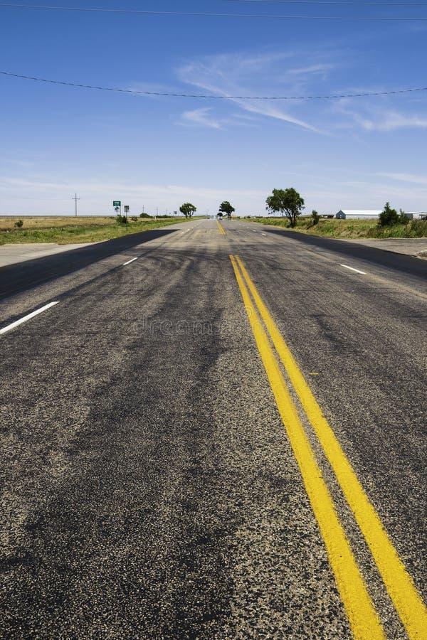Παλαιά διαδρομή 66 Τέξας - καλοκαίρι στοκ εικόνα