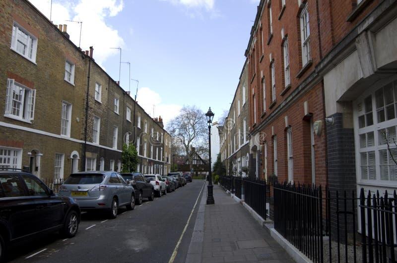 Παλαιά διαμερίσματα στο Λονδίνο στοκ φωτογραφία