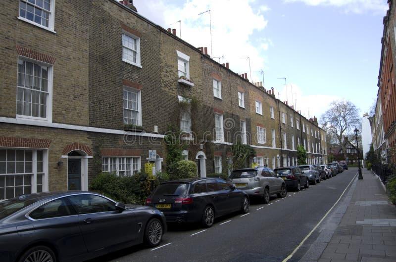 Παλαιά διαμερίσματα στο Λονδίνο στοκ φωτογραφίες